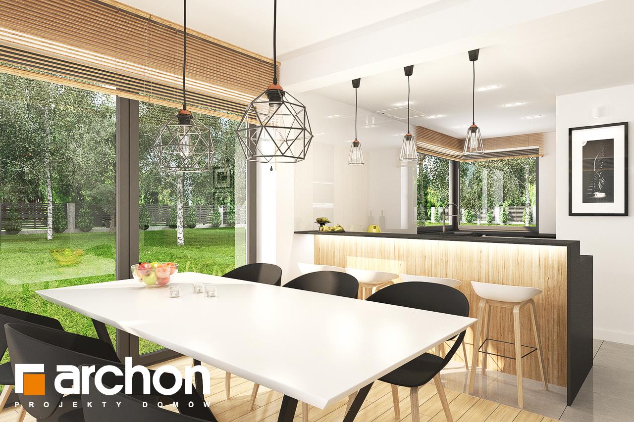Проект будинку ARCHON+ Будинок у топазах візуалізація кухні 1 від 3