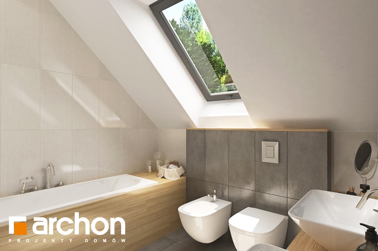 Проект будинку ARCHON+ Будинок у топазах візуалізація ванни (візуалізація 3 від 2)