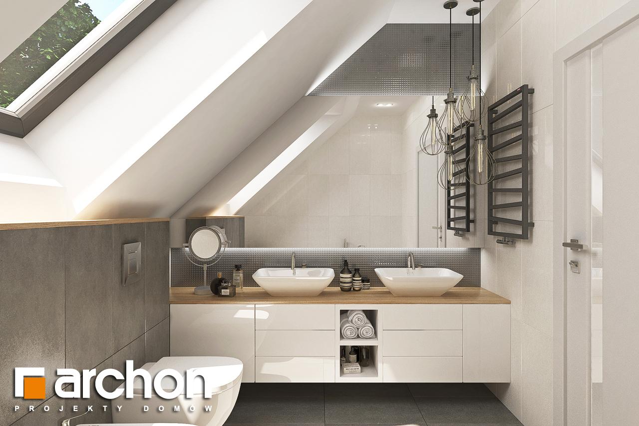 Проект будинку ARCHON+ Будинок у топазах візуалізація ванни (візуалізація 3 від 3)