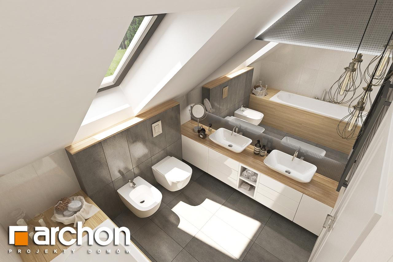 Проект будинку ARCHON+ Будинок у топазах візуалізація ванни (візуалізація 3 від 4)