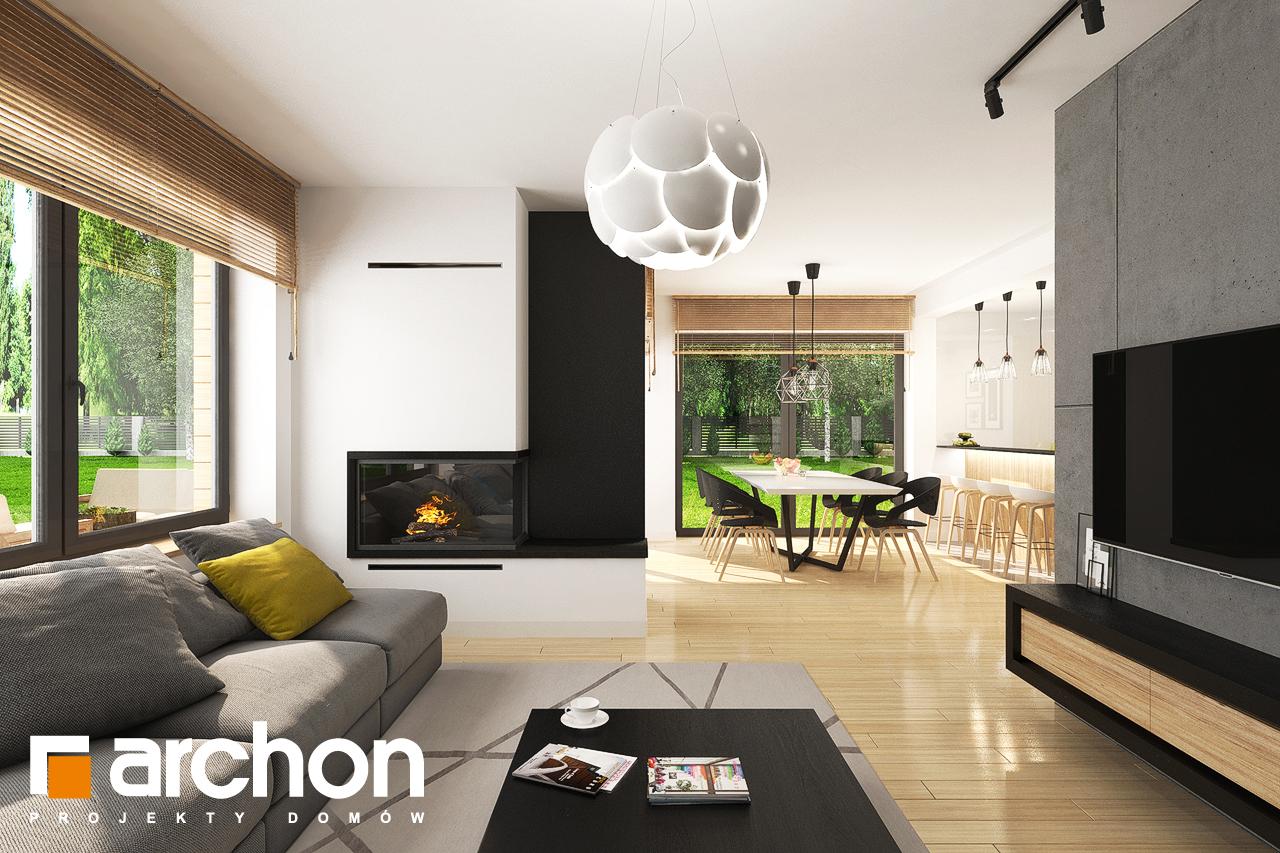 Проект будинку ARCHON+ Будинок у топазах денна зона (візуалізація 1 від 2)