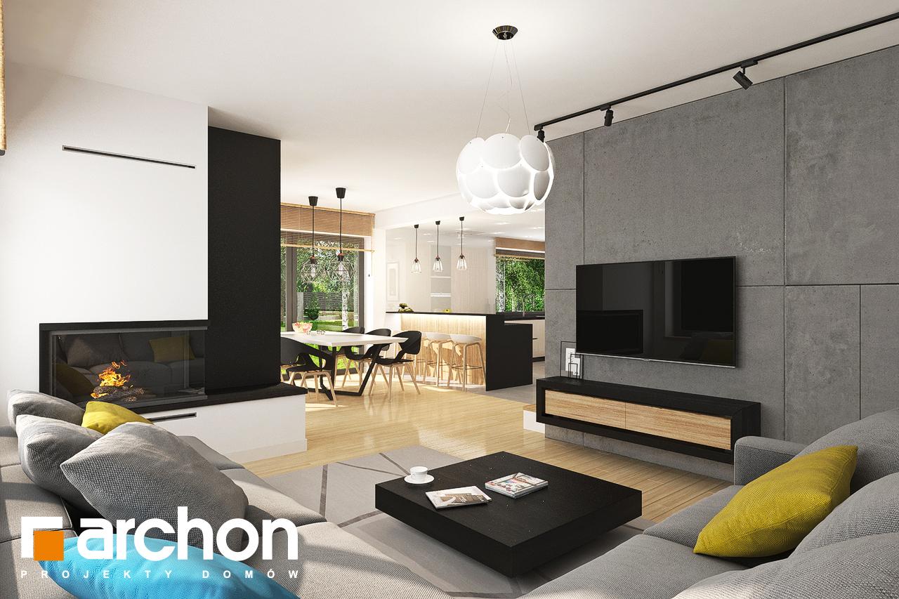 Проект будинку ARCHON+ Будинок у топазах денна зона (візуалізація 1 від 3)