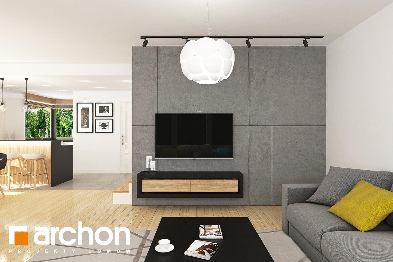 Проект будинку ARCHON+ Будинок у топазах денна зона (візуалізація 1 від 5)
