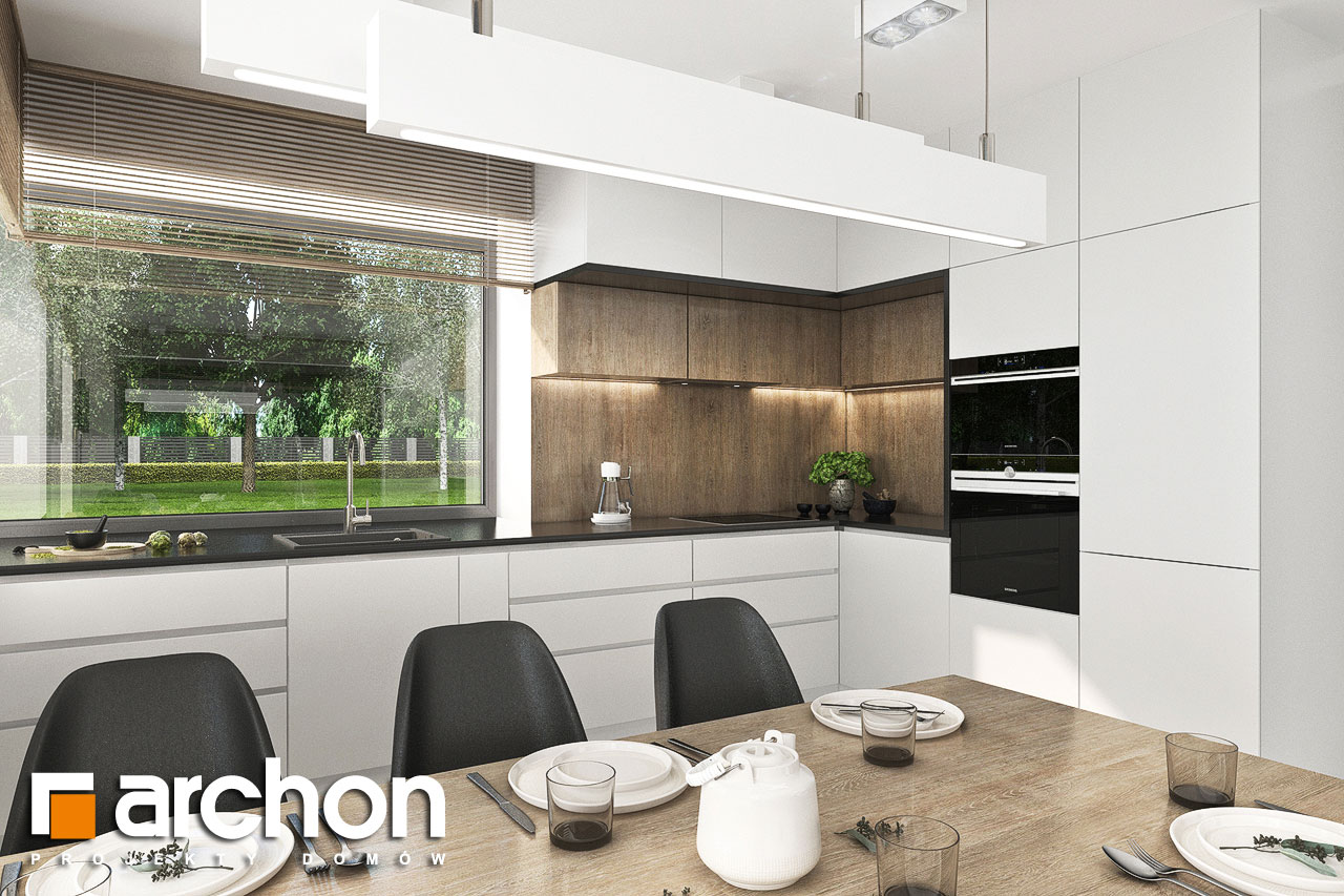 Проект будинку ARCHON+ Будинок в хлорофітумі 12 (Г) візуалізація кухні 1 від 1