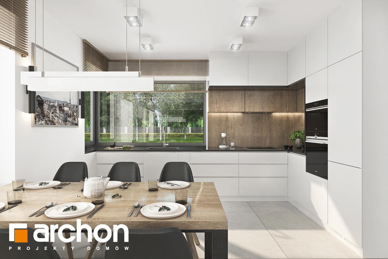 Проект будинку ARCHON+ Будинок в хлорофітумі 12 (Г) візуалізація кухні 1 від 2