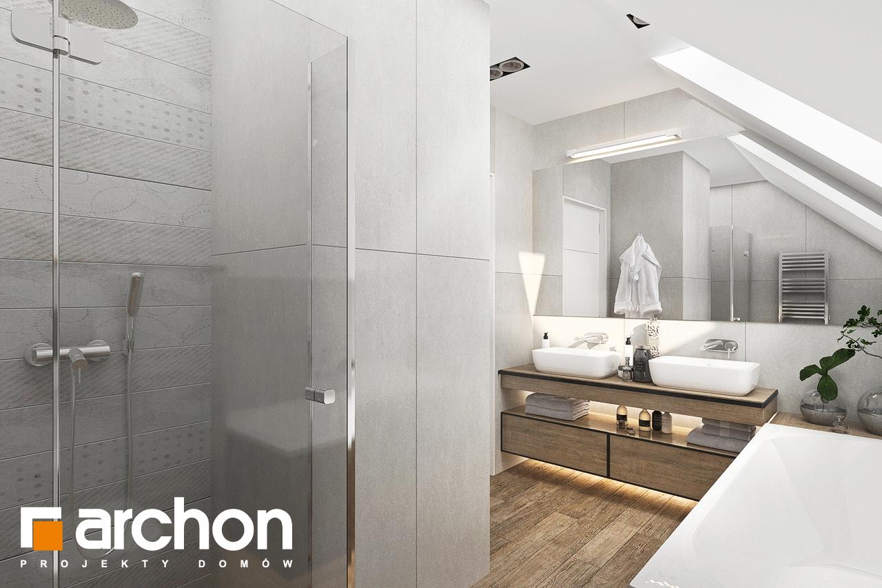 Проект будинку ARCHON+ Будинок в хлорофітумі 12 (Г) візуалізація ванни (візуалізація 3 від 1)