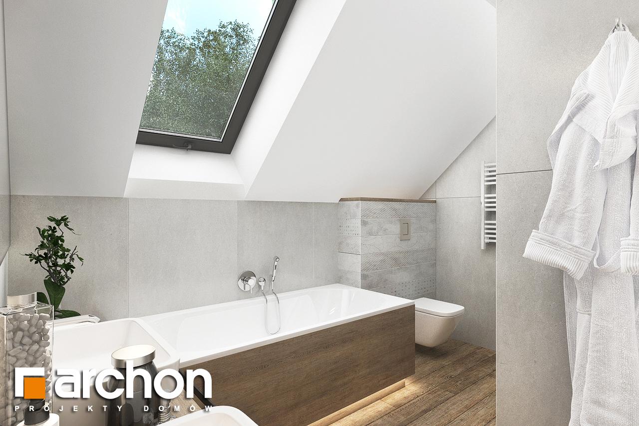 Проект будинку ARCHON+ Будинок в хлорофітумі 12 (Г) візуалізація ванни (візуалізація 3 від 2)