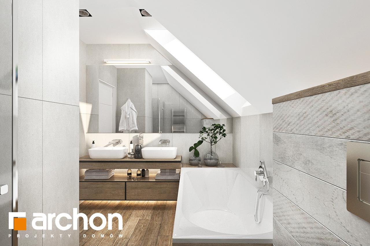Проект будинку ARCHON+ Будинок в хлорофітумі 12 (Г) візуалізація ванни (візуалізація 3 від 3)