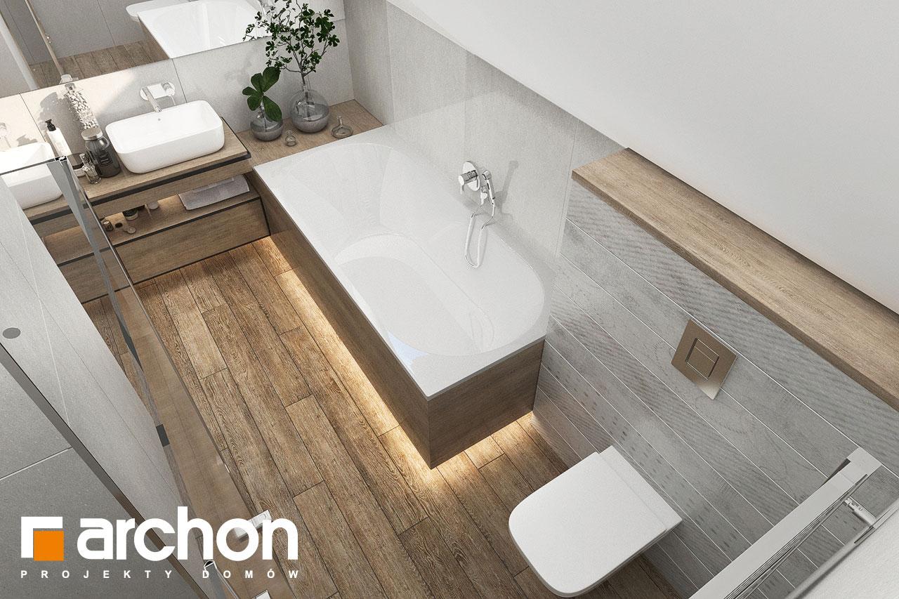 Проект будинку ARCHON+ Будинок в хлорофітумі 12 (Г) візуалізація ванни (візуалізація 3 від 4)
