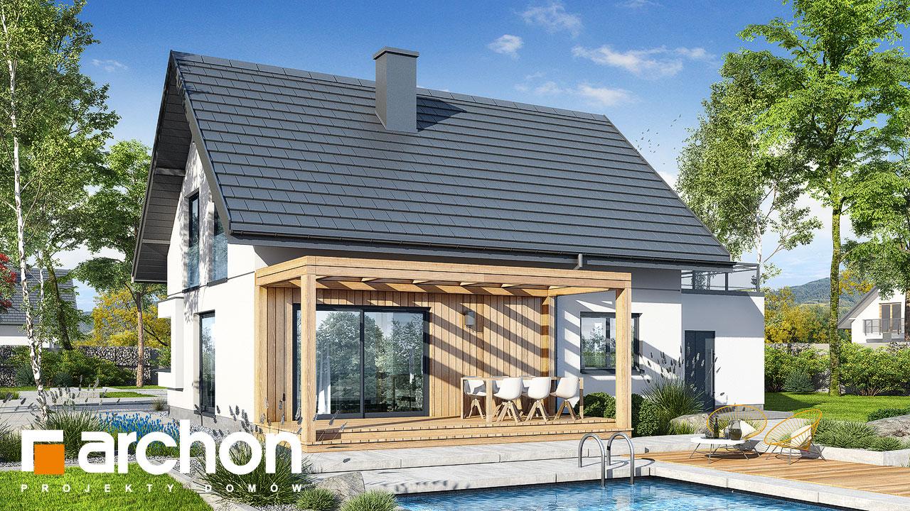 Проект будинку ARCHON+ Будинок в хлорофітумі 12 (Г) Вид 2