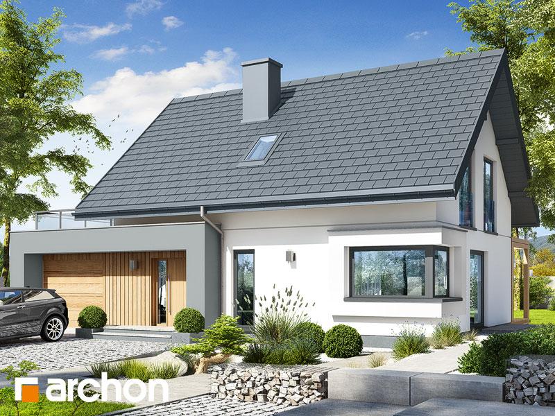 Проект будинку ARCHON+ Будинок в хлорофітумі 12 (Г) Вид 1