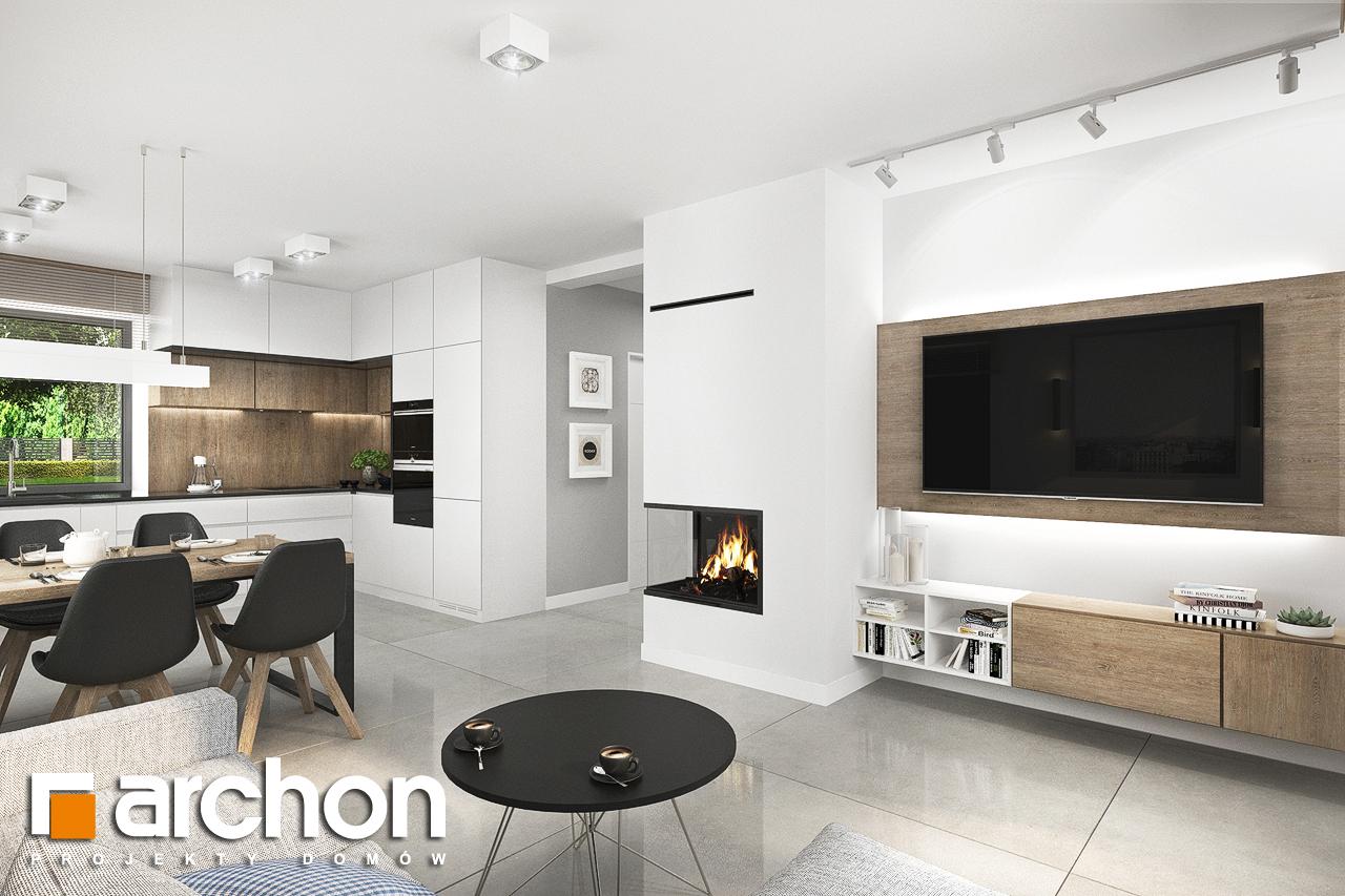Проект будинку ARCHON+ Будинок в хлорофітумі 12 (Г) денна зона (візуалізація 1 від 1)