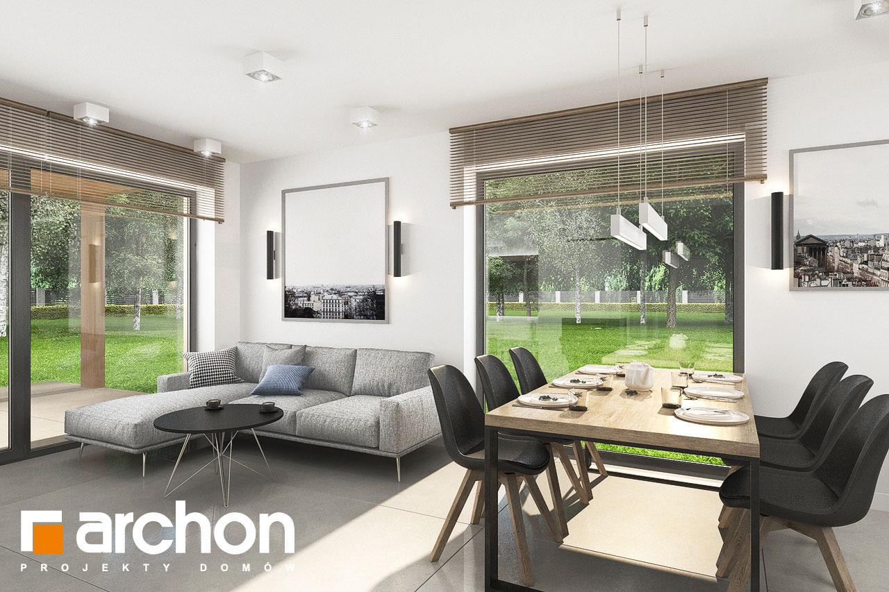 Проект будинку ARCHON+ Будинок в хлорофітумі 12 (Г) денна зона (візуалізація 1 від 2)