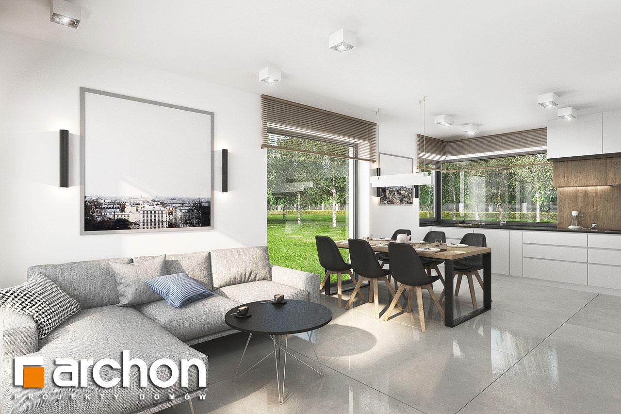 Проект будинку ARCHON+ Будинок в хлорофітумі 12 (Г) денна зона (візуалізація 1 від 3)