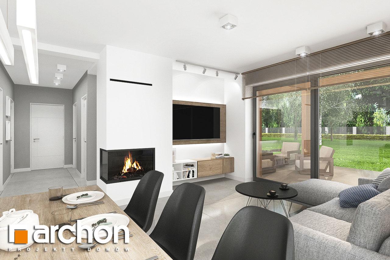 Проект будинку ARCHON+ Будинок в хлорофітумі 12 (Г) денна зона (візуалізація 1 від 4)
