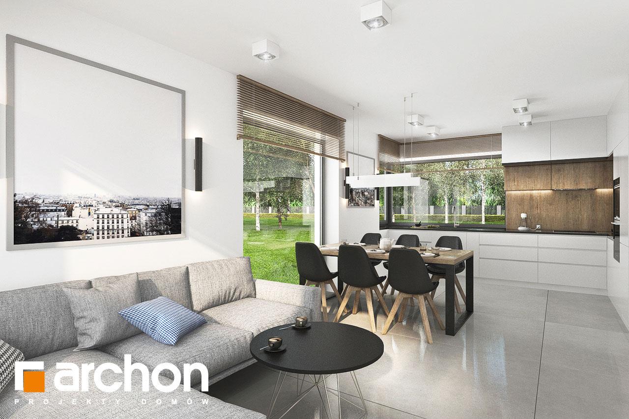 Проект будинку ARCHON+ Будинок в хлорофітумі 12 (Г) денна зона (візуалізація 1 від 5)