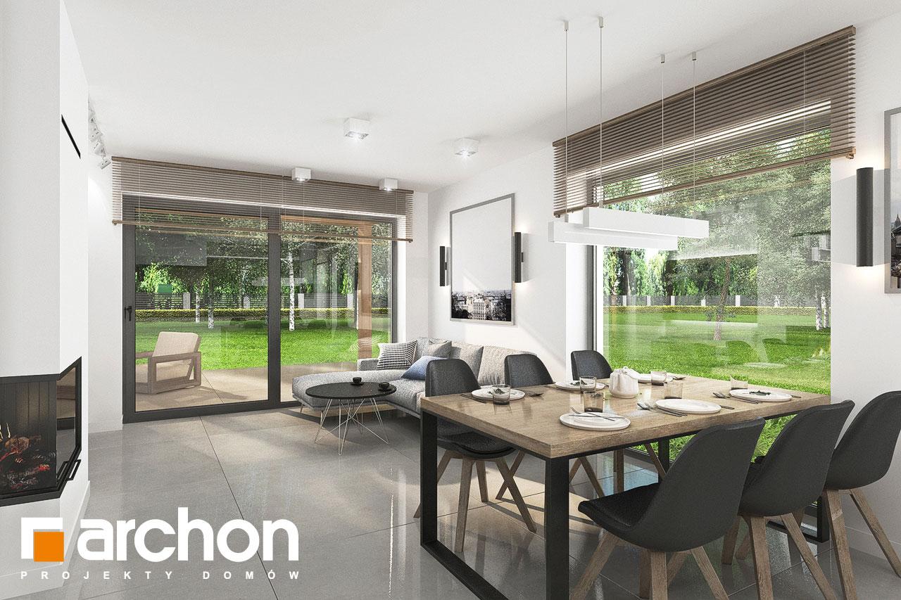 Проект будинку ARCHON+ Будинок в хлорофітумі 12 (Г) денна зона (візуалізація 1 від 6)