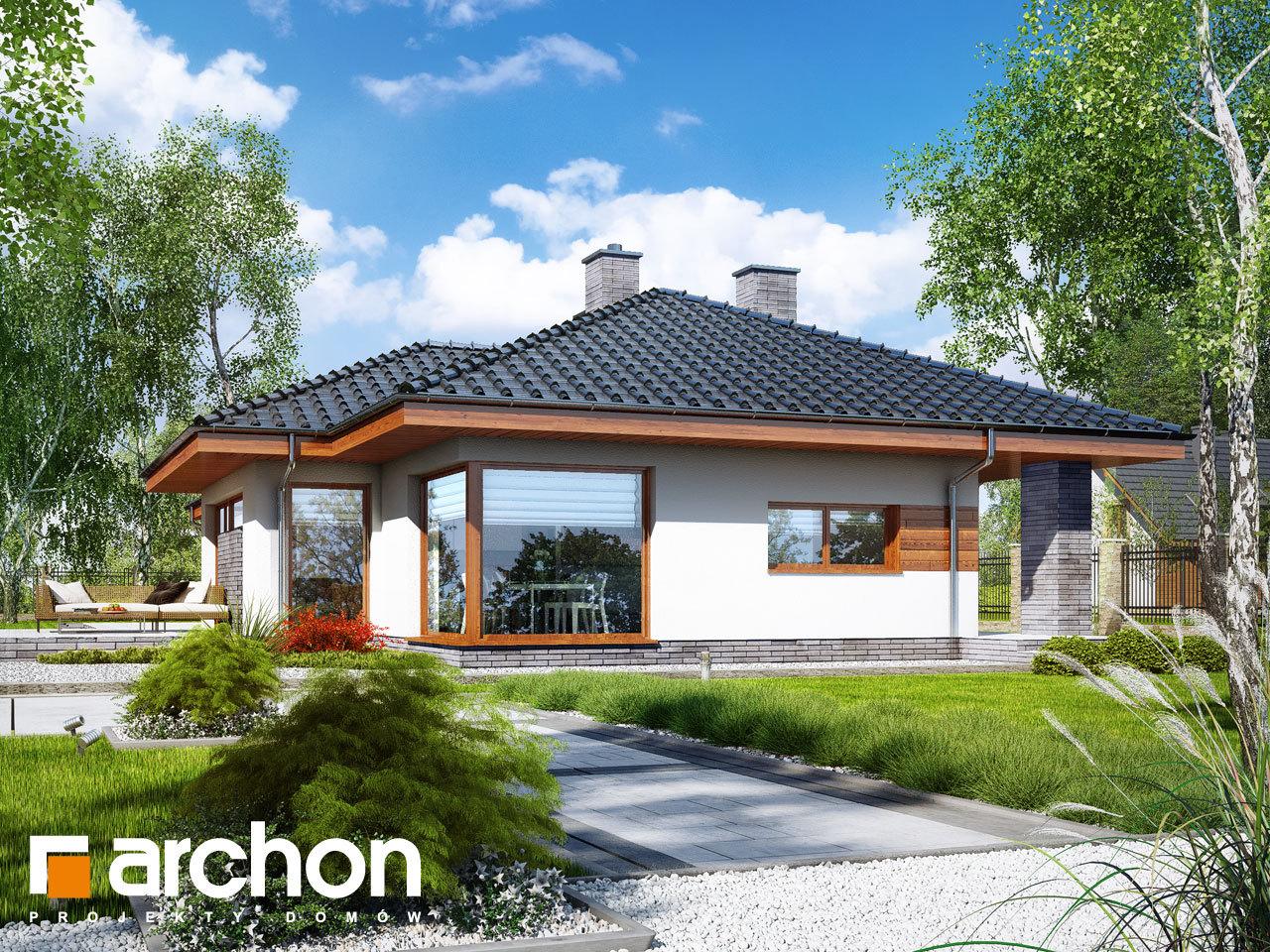 Проект будинку ARCHON+ Будинок в амарантах 5