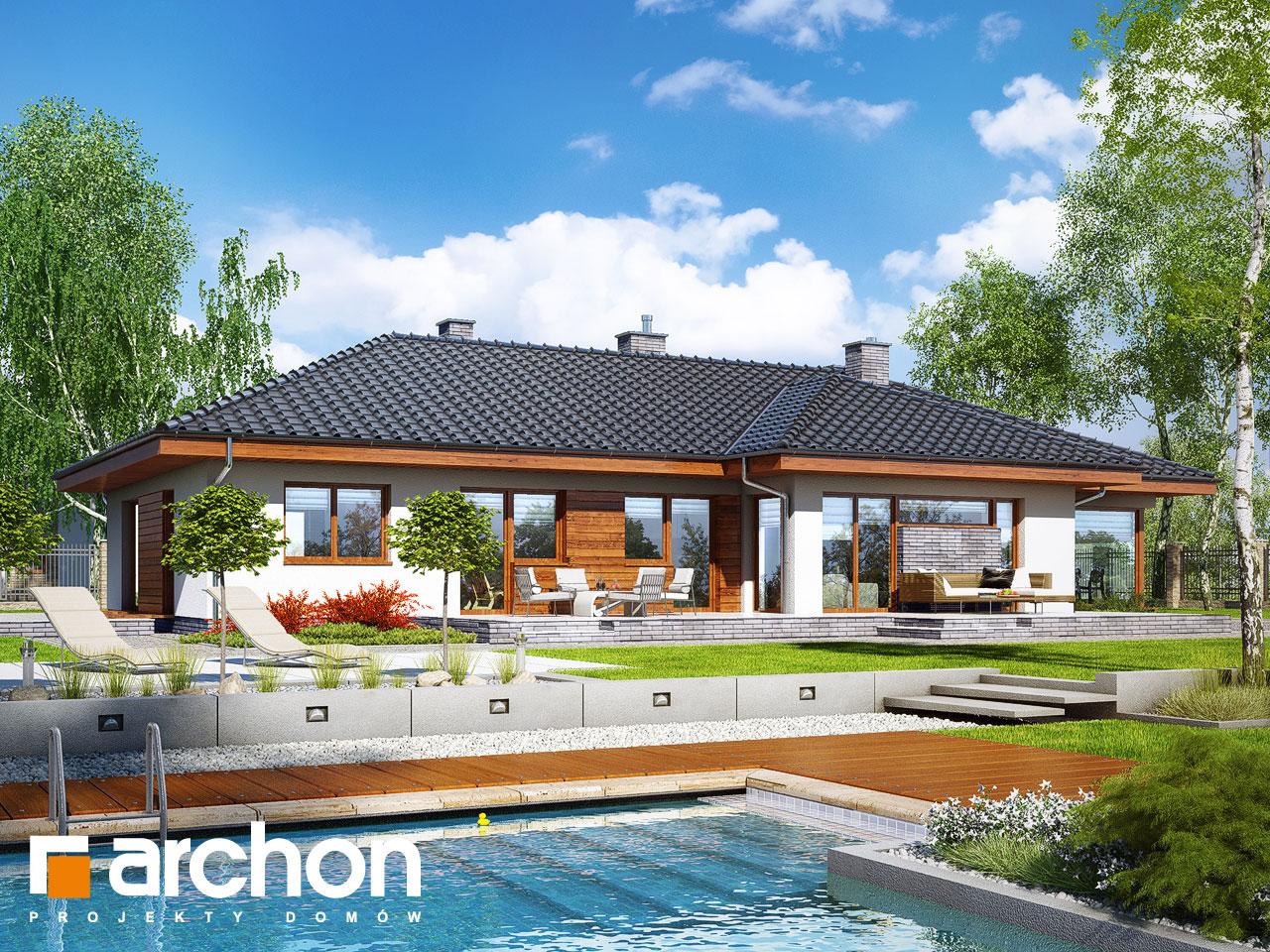 Проект будинку ARCHON+ Будинок в амарантах Вид 2