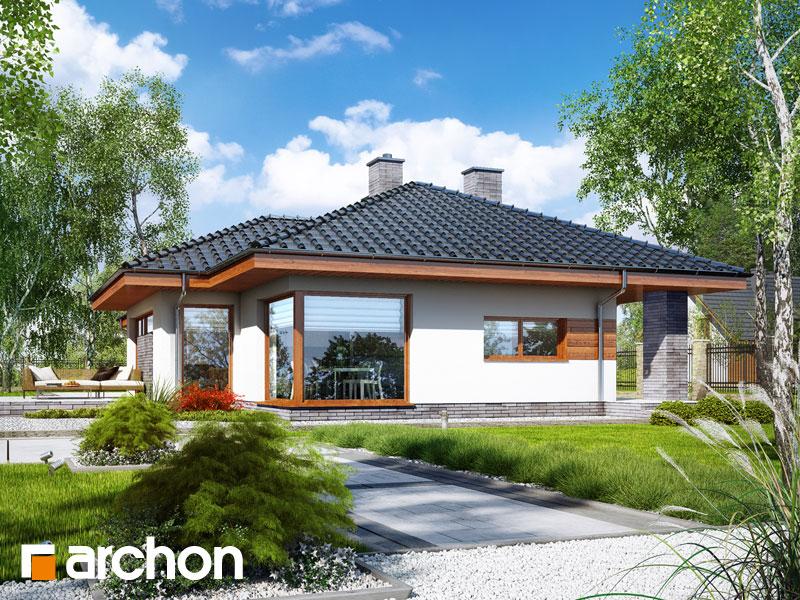 Проект будинку ARCHON+ Будинок в амарантах Вид 1