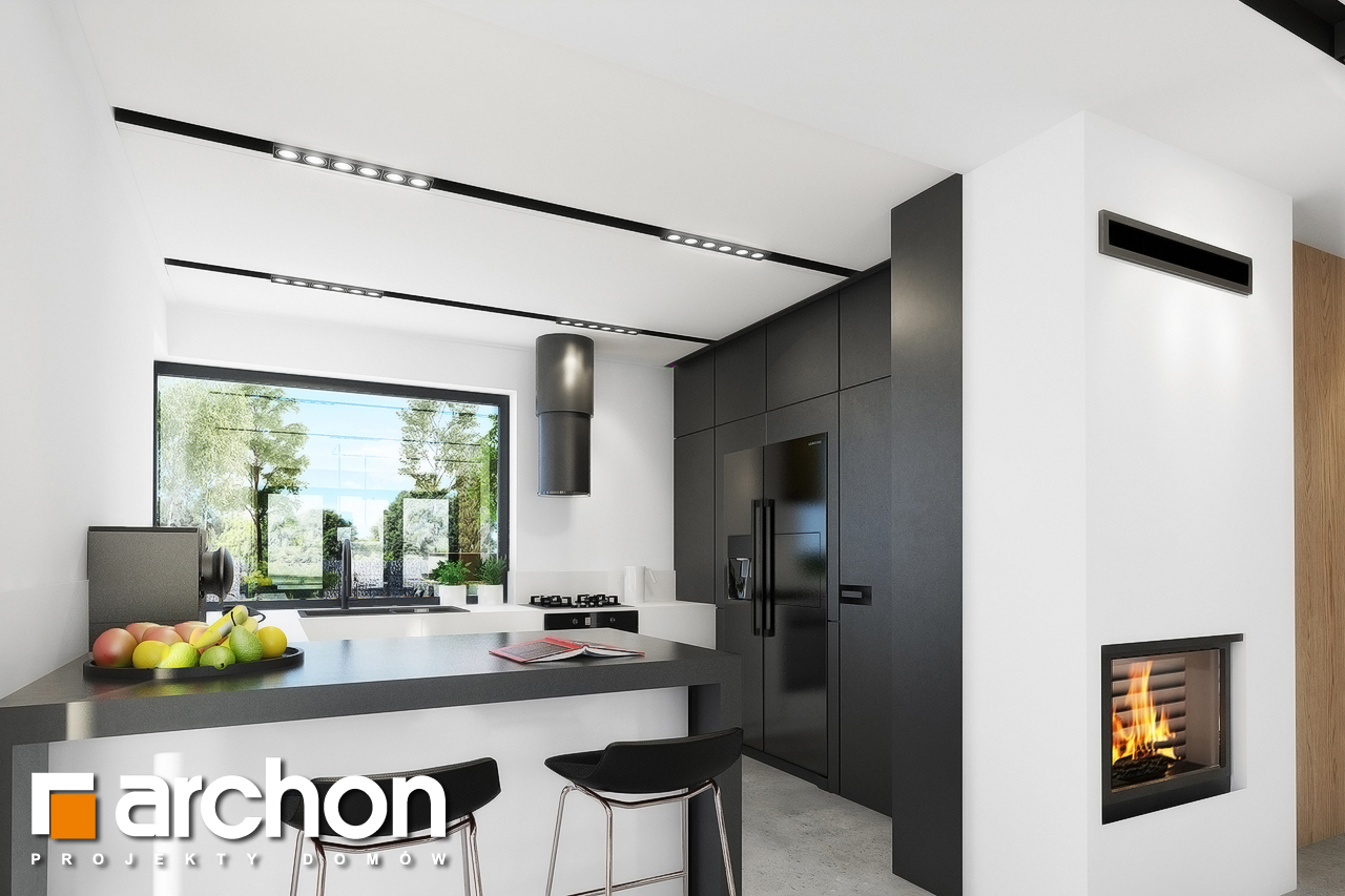 Проект будинку ARCHON+ Будинок в малинівці 4 візуалізація кухні 1 від 1