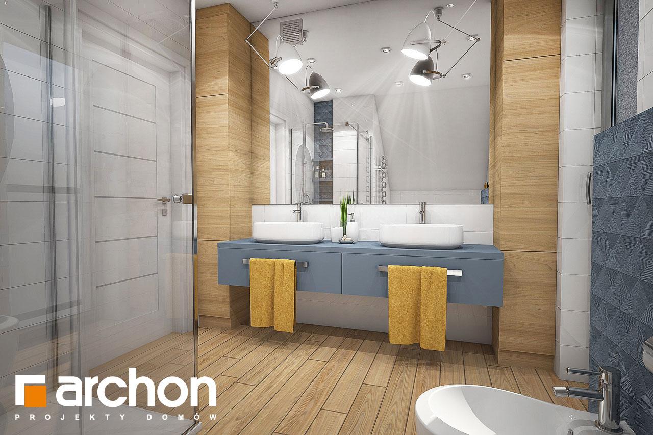 Проект будинку ARCHON+ Будинок в малинівці 4 візуалізація ванни (візуалізація 3 від 2)