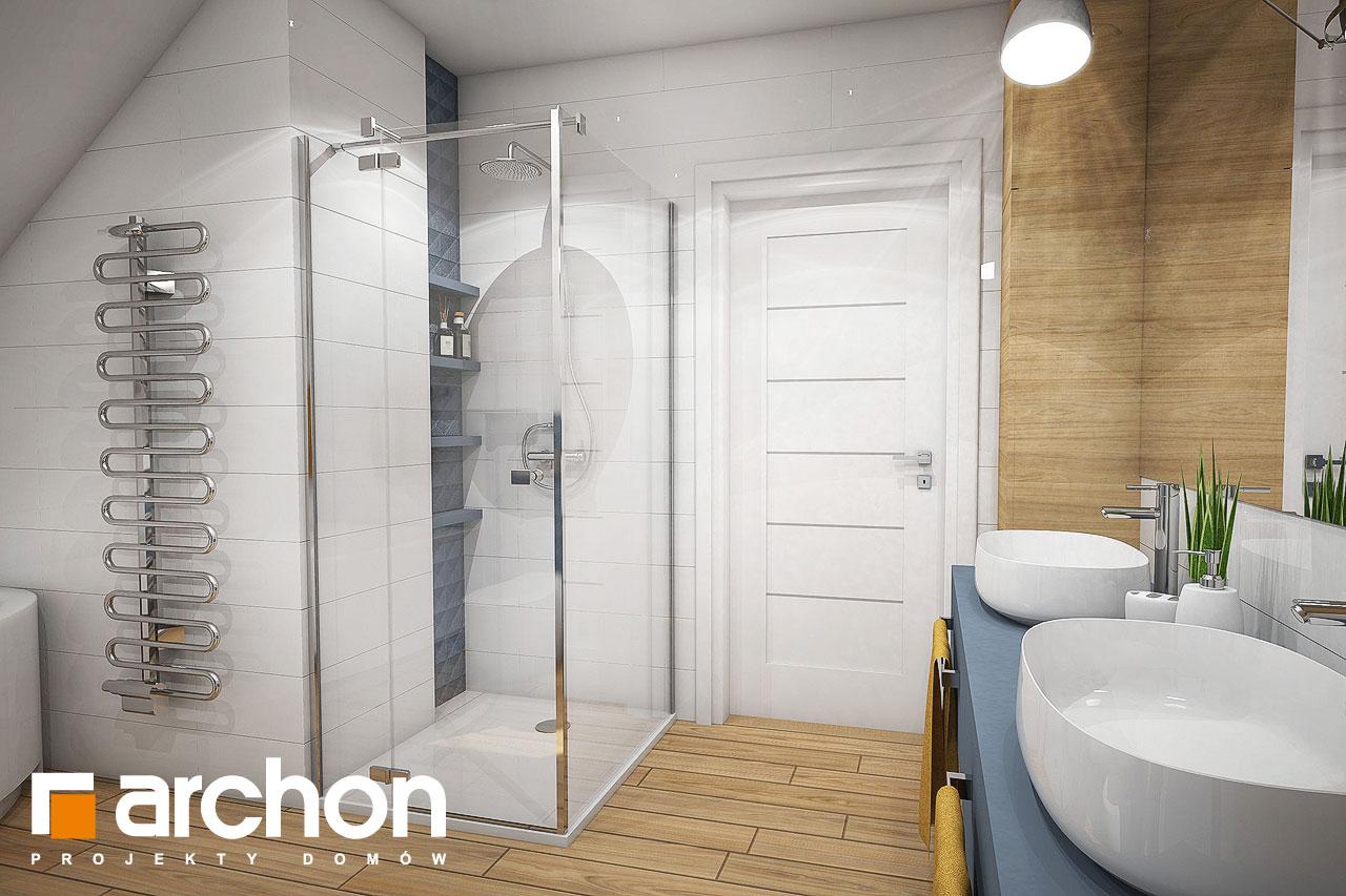 Проект будинку ARCHON+ Будинок в малинівці 4 візуалізація ванни (візуалізація 3 від 3)