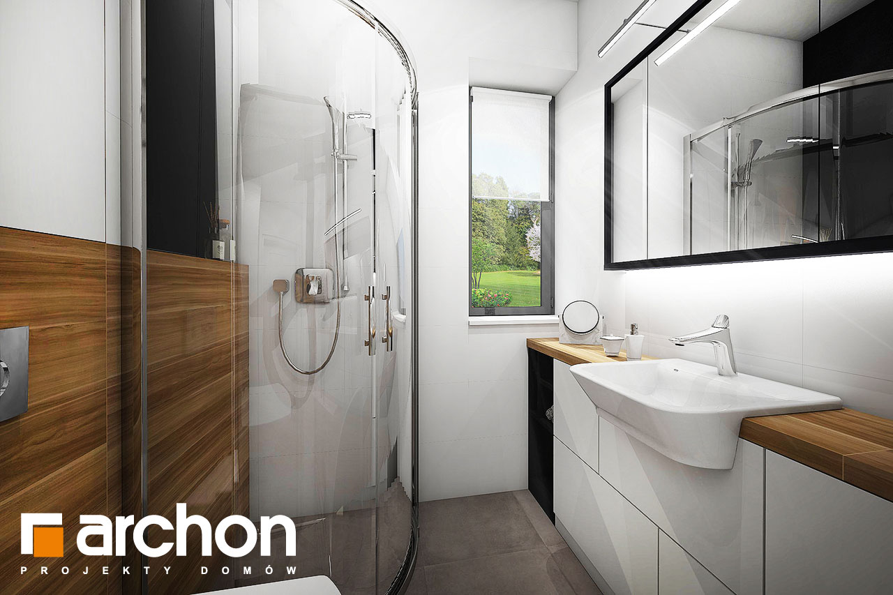 Проект будинку ARCHON+ Будинок в малинівці 4 візуалізація ванни (візуалізація 4 від 1)