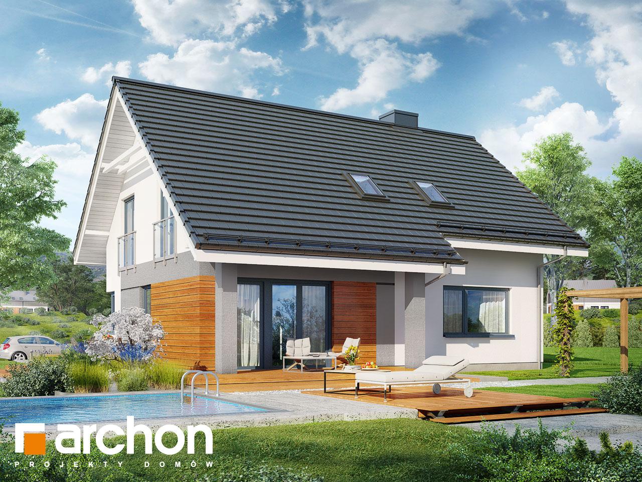 Проект будинку ARCHON+ Будинок в малинівці 4 Вид 2