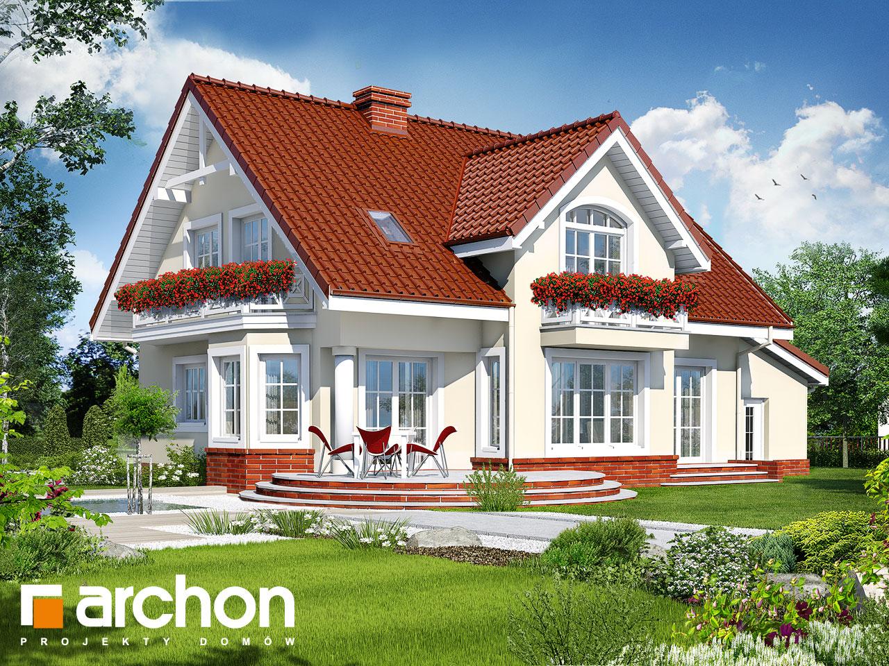 Проект будинку ARCHON+ Будинок в мірабеллі (Г) вер.2 Вид 2