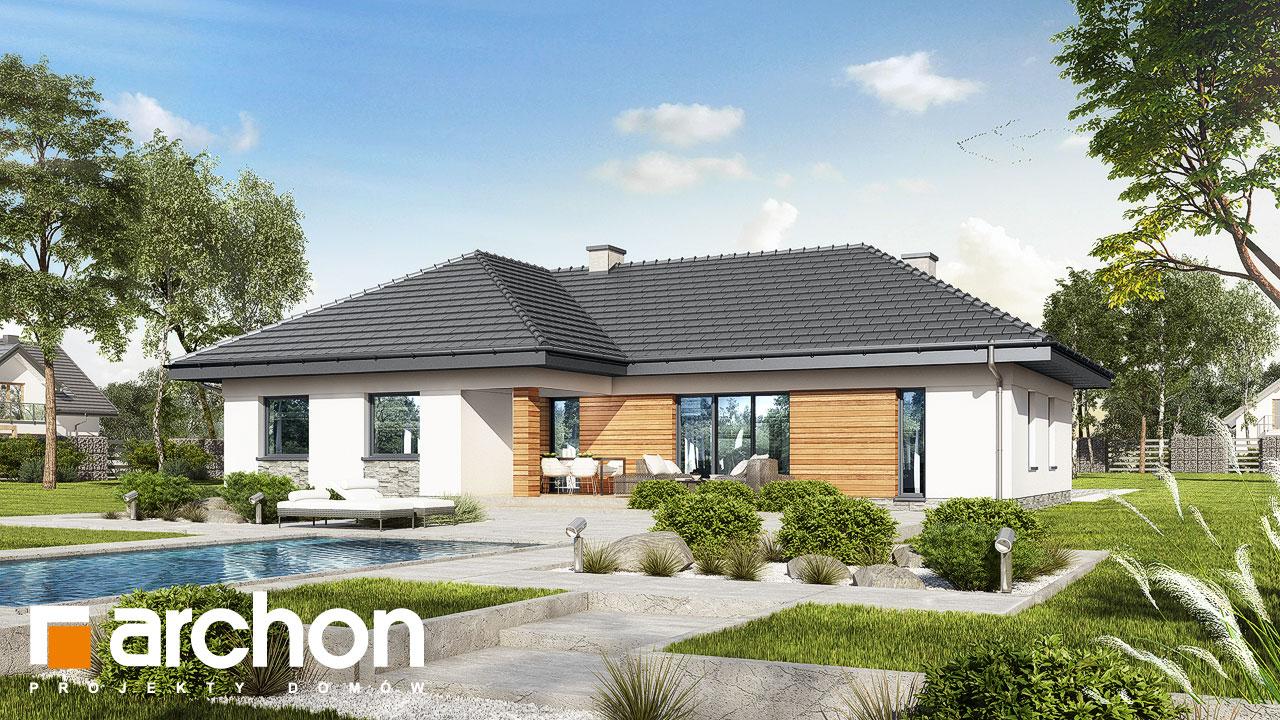 Проект будинку ARCHON+ Будинок в навлоціях додаткова візуалізація