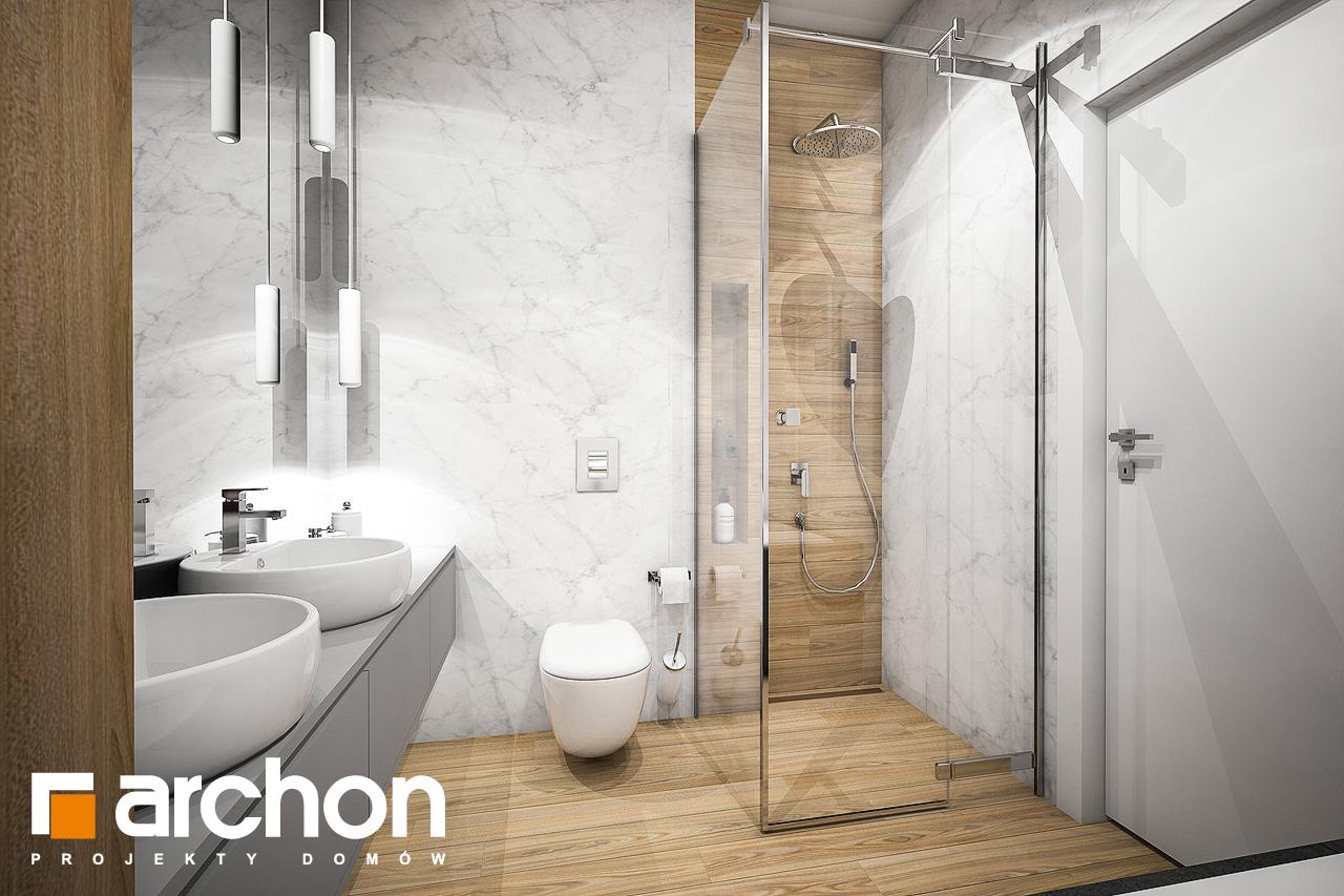 Проект будинку ARCHON+ Будинок в навлоціях візуалізація ванни (візуалізація 3 від 2)