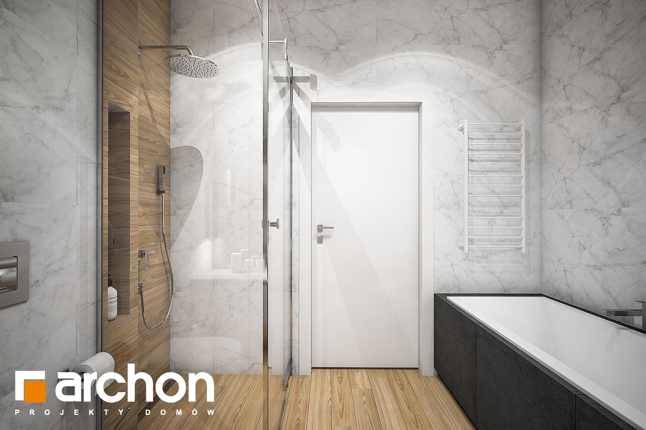 Проект будинку ARCHON+ Будинок в навлоціях візуалізація ванни (візуалізація 3 від 3)