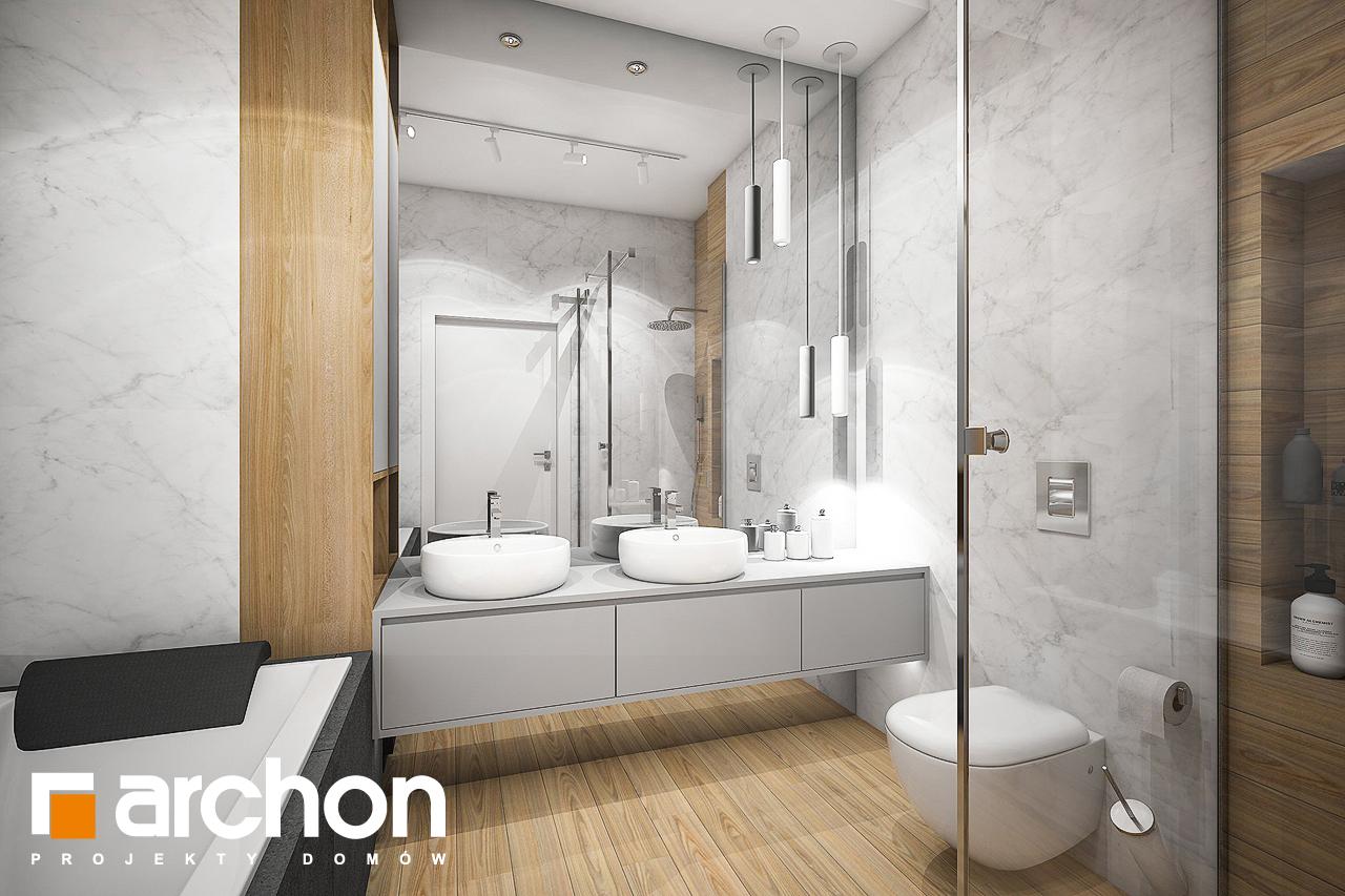 Проект дома ARCHON+ Дом в навлоциях визуализация ванной (визуализация 3 вид 1)