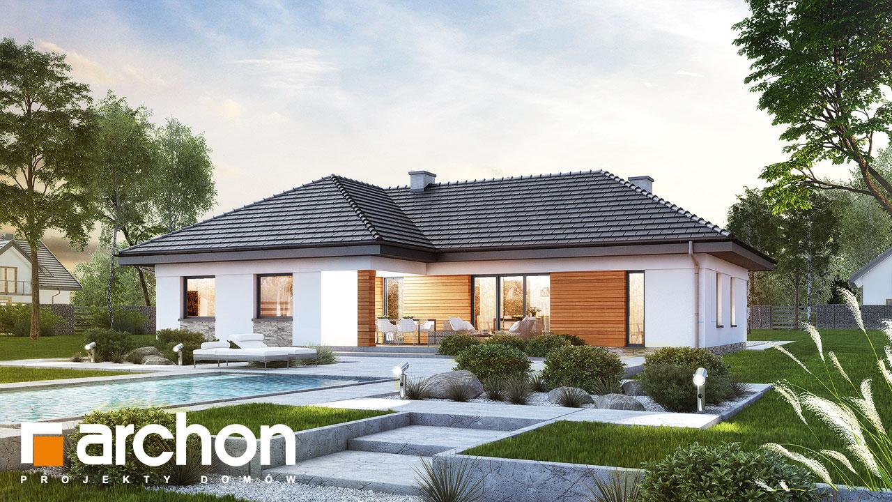 Проект будинку ARCHON+ Будинок в навлоціях Вид 2