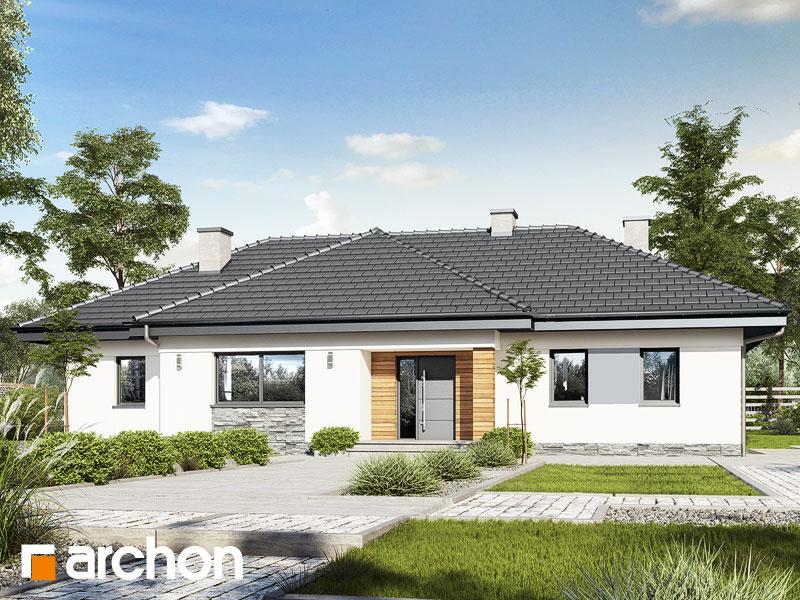 Проект будинку ARCHON+ Будинок в навлоціях Вид 1