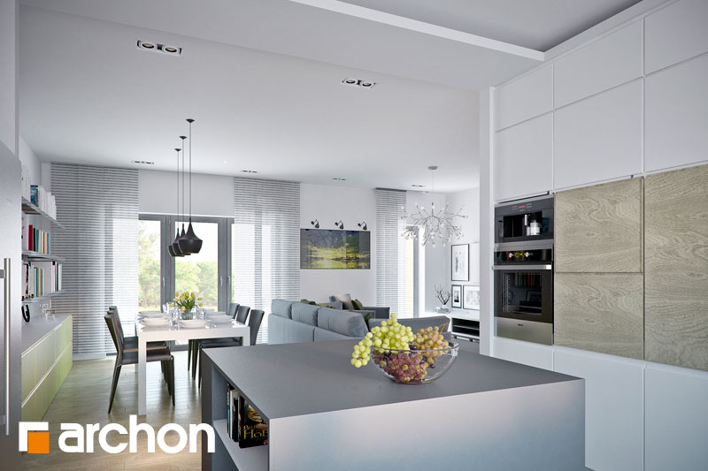 Проект будинку ARCHON+ Будинок в навлоціях денна зона (візуалізація 1 від 5)