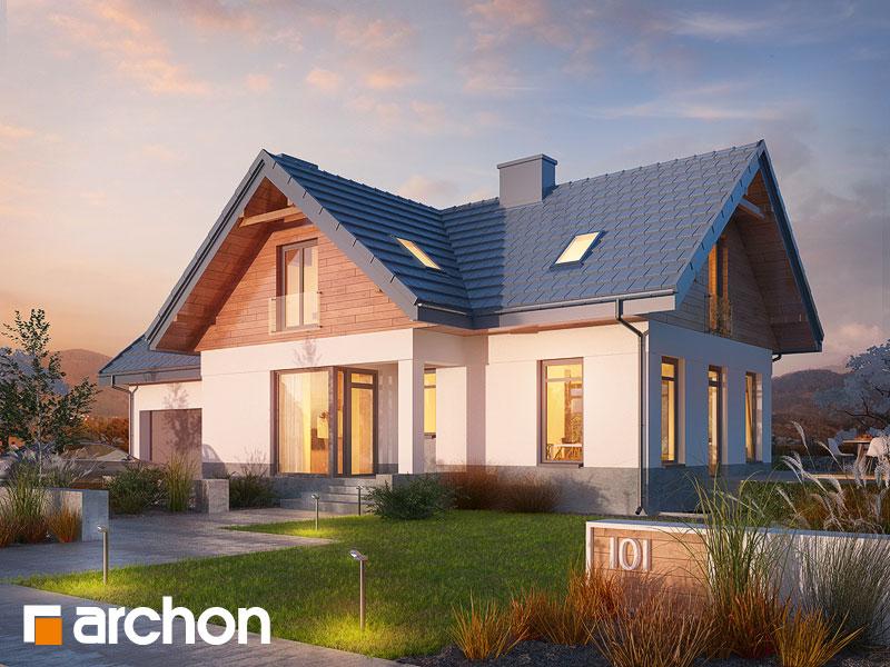 Проект будинку ARCHON+ Будинок в помело (П)  Вид 1