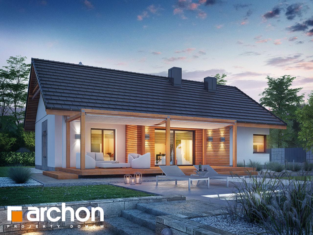 Проект будинку ARCHON+ Будинок під звірками додаткова візуалізація