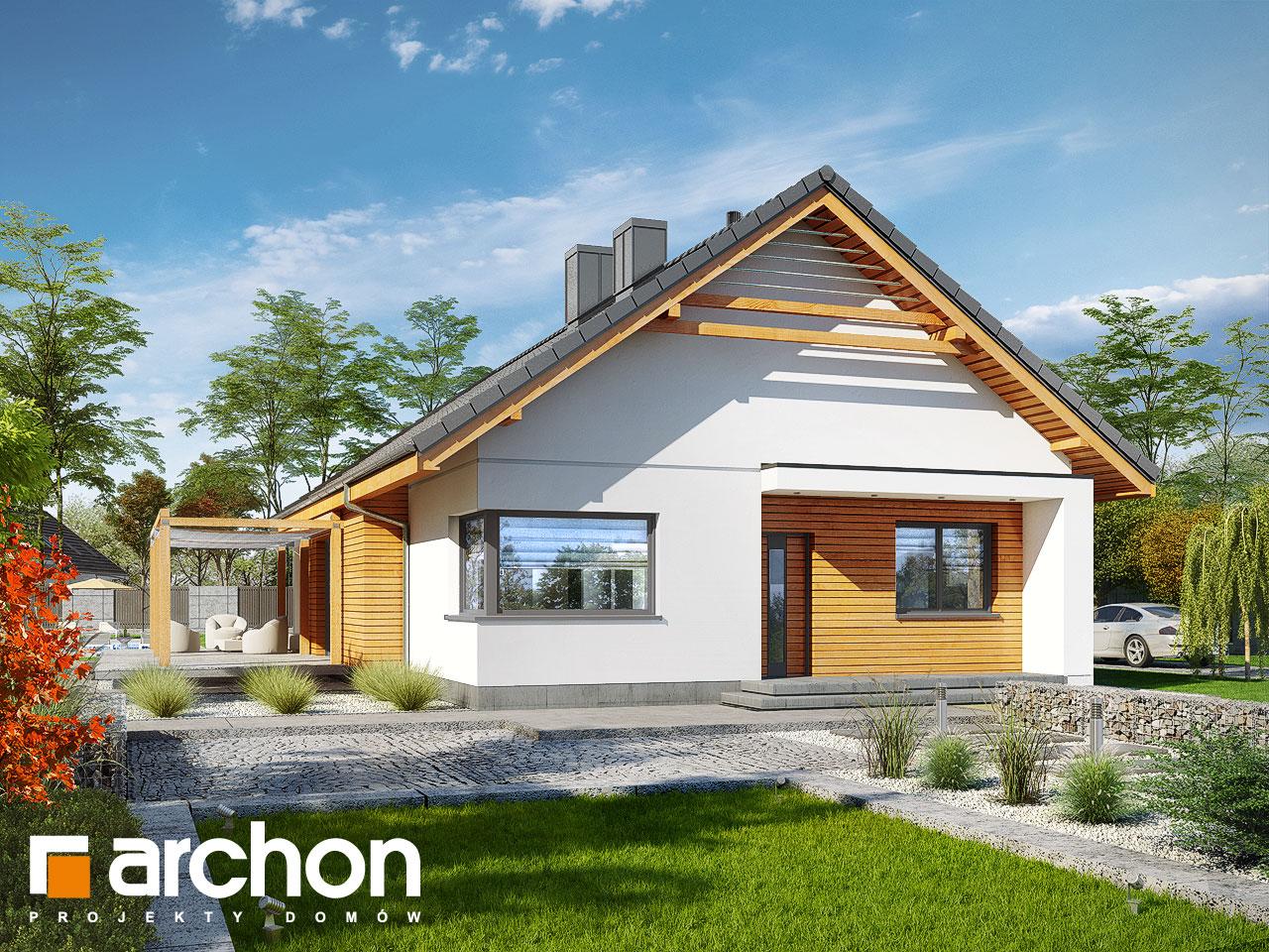 Проект будинку ARCHON+ Будинок під звірками стилізація 3