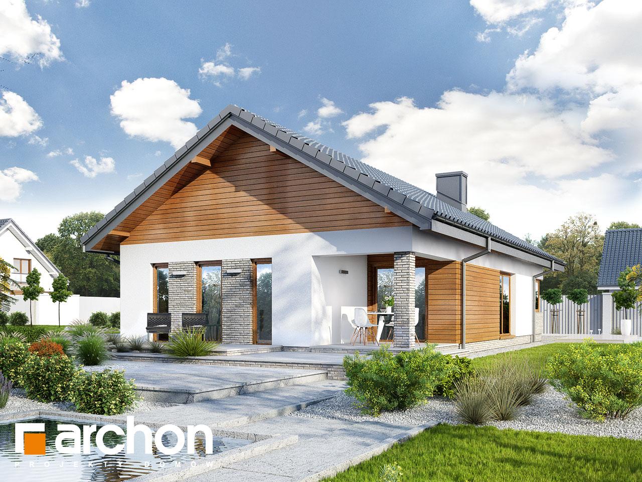 Проект будинку ARCHON+ Будинок в ліредах Вид 2