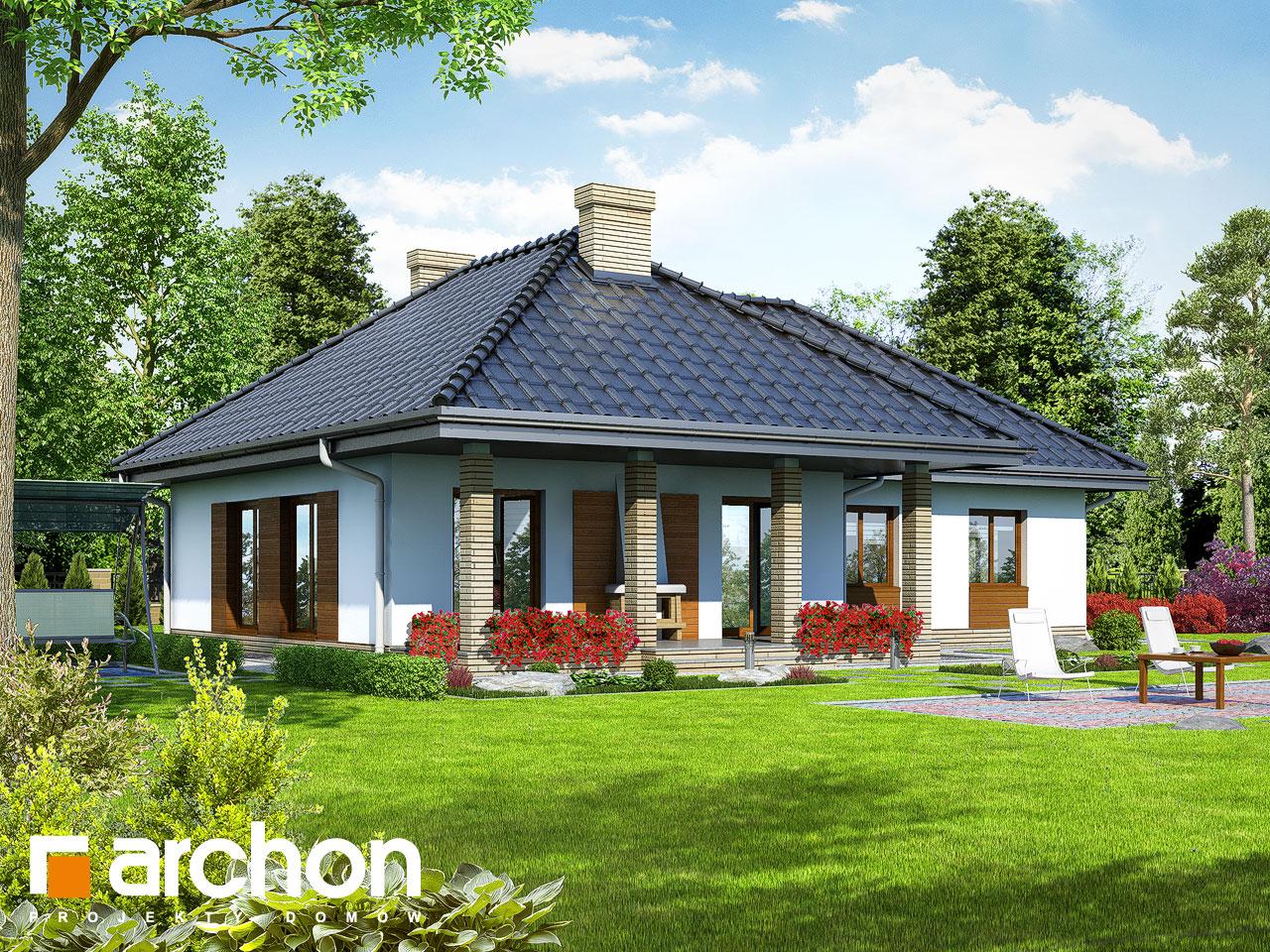 Проект будинку ARCHON+ Будинок в гарденіях Вид 2