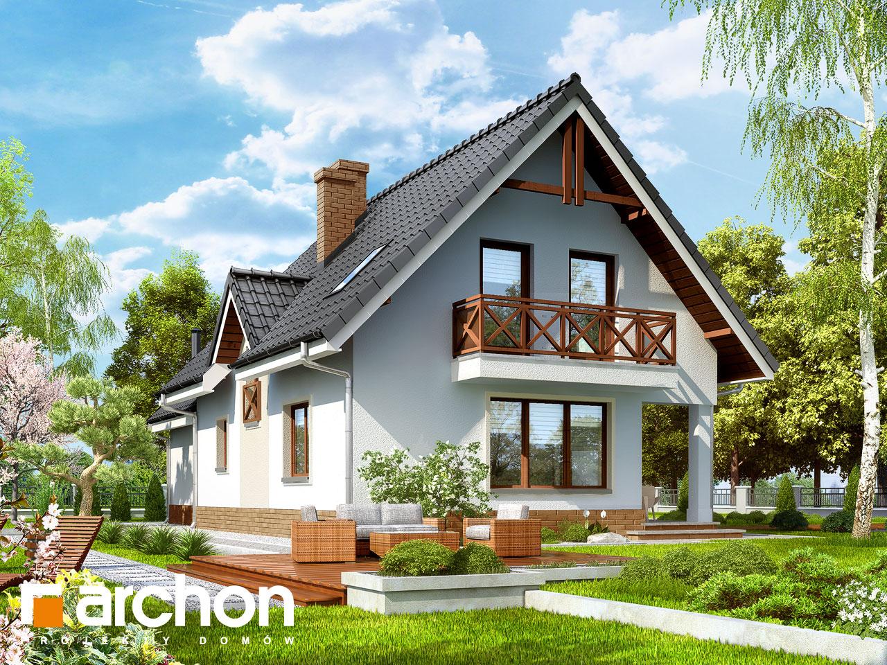 Проект будинку ARCHON+ Будинок в журавлині 2 Вид 2
