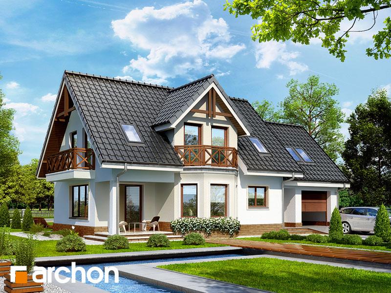 Проект будинку ARCHON+ Будинок в журавлині 2 Вид 1