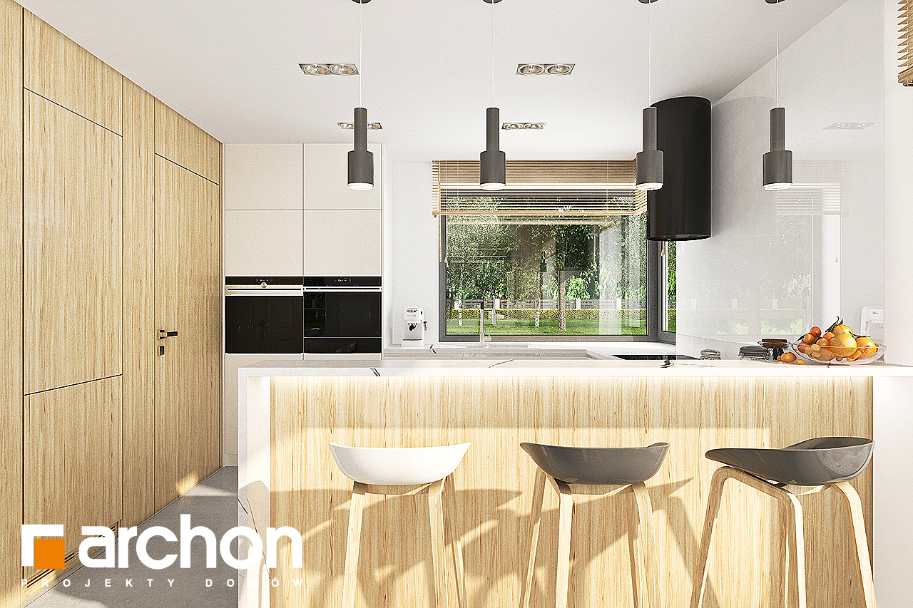 Проект будинку ARCHON+ Будинок в кортландах 4 (Г2) візуалізація кухні 1 від 1