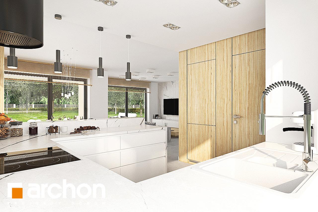Проект дома ARCHON+ Дом в кортландах 4 (Г2) визуализация кухни 1 вид 2