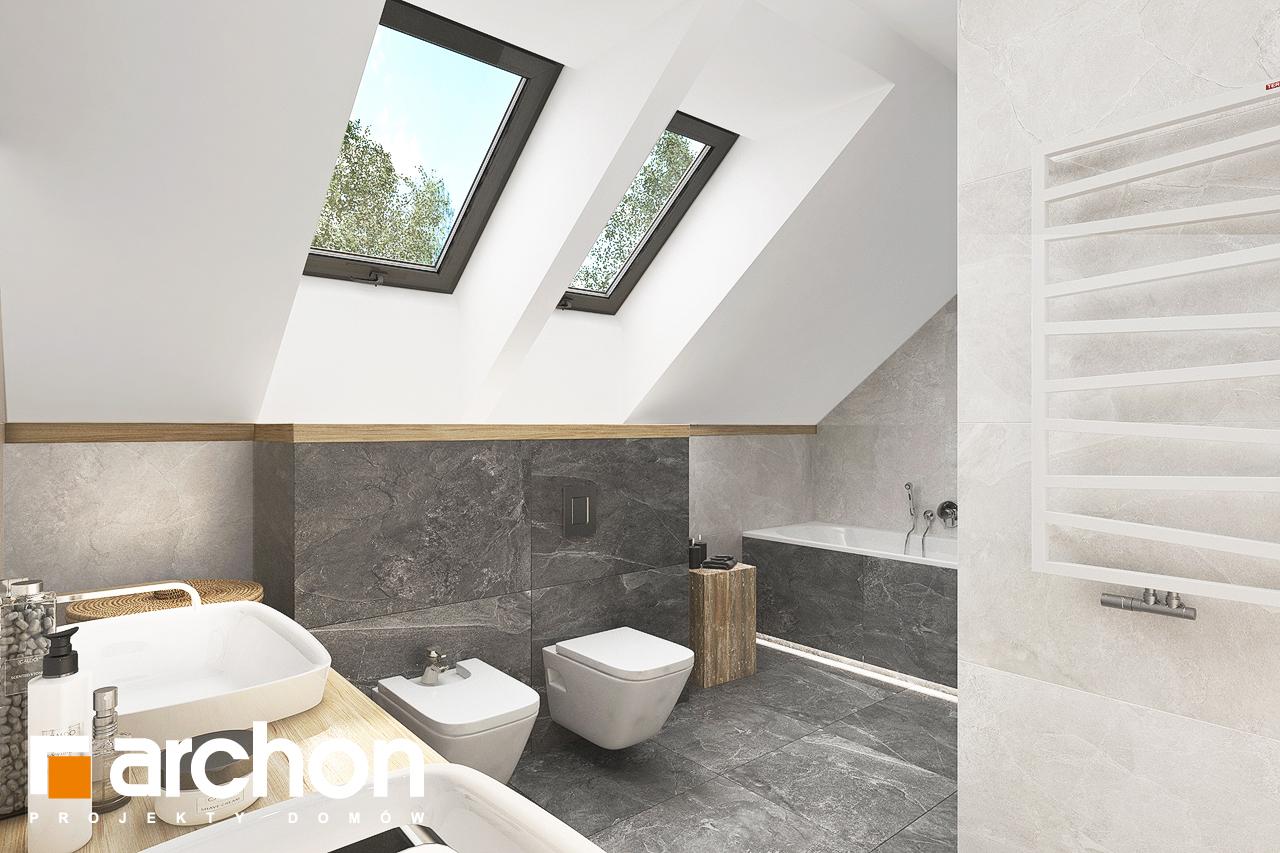 Проект дома ARCHON+ Дом в кортландах 4 (Г2) визуализация ванной (визуализация 3 вид 1)