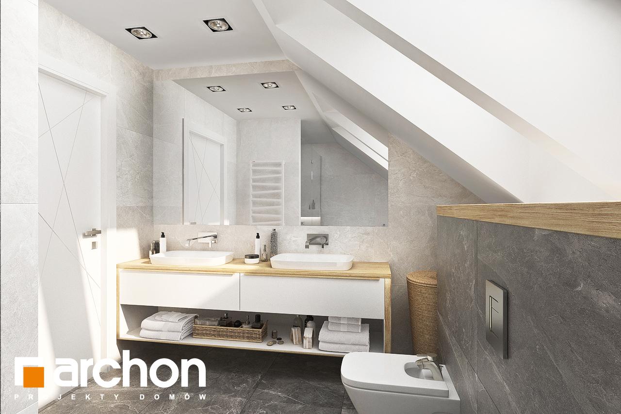 Проект дома ARCHON+ Дом в кортландах 4 (Г2) визуализация ванной (визуализация 3 вид 2)