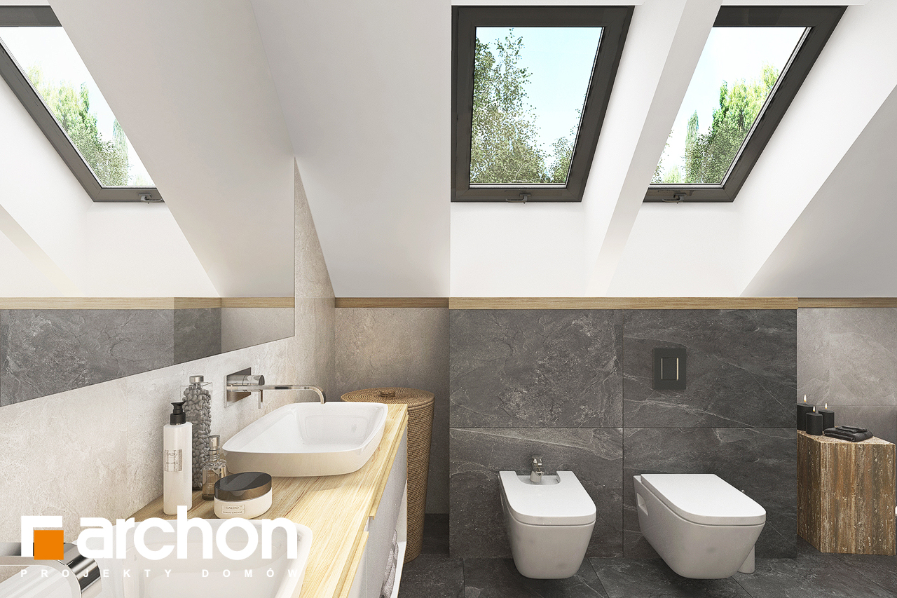 Проект дома ARCHON+ Дом в кортландах 4 (Г2) визуализация ванной (визуализация 3 вид 3)