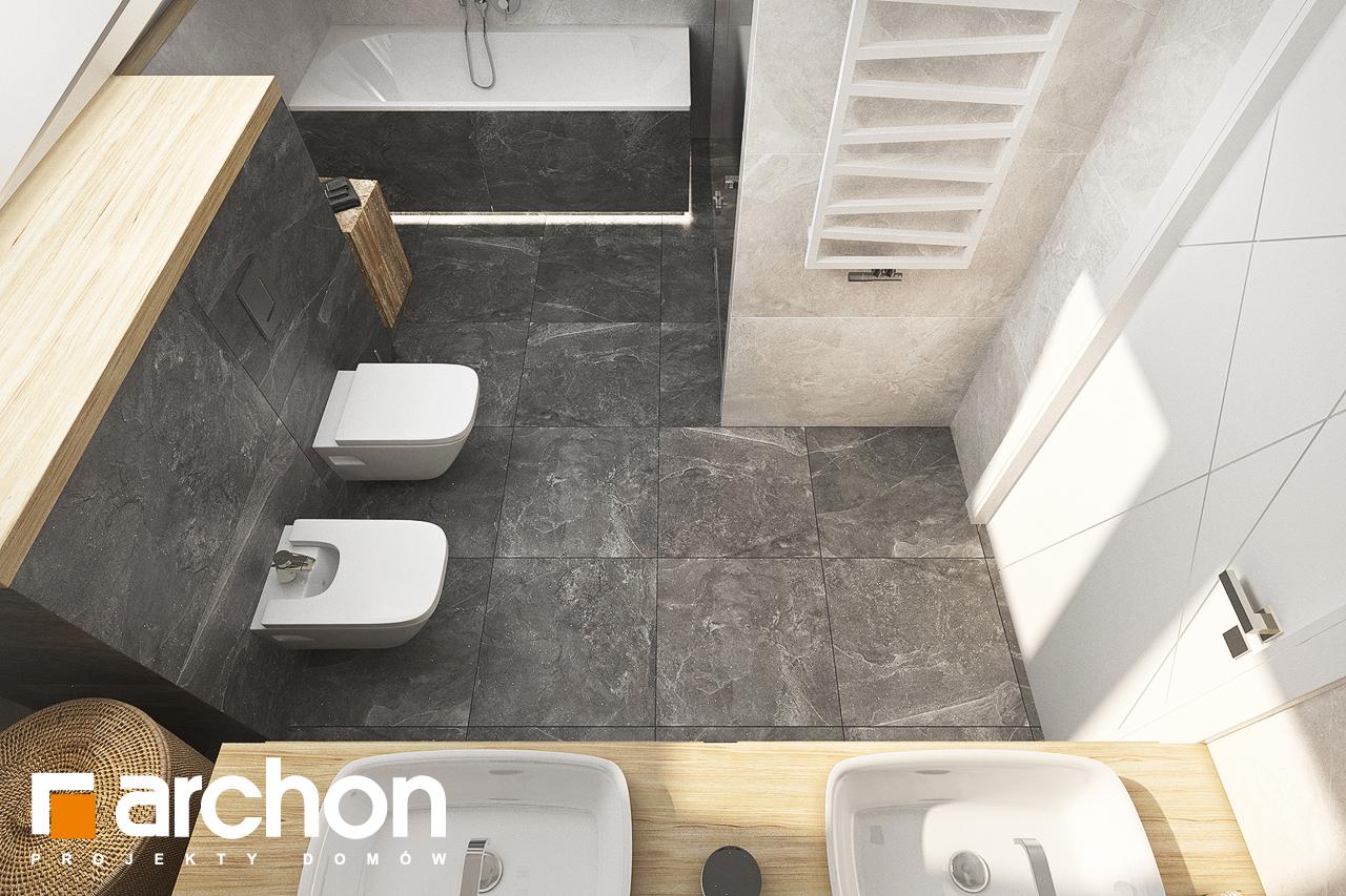 Проект дома ARCHON+ Дом в кортландах 4 (Г2) визуализация ванной (визуализация 3 вид 5)